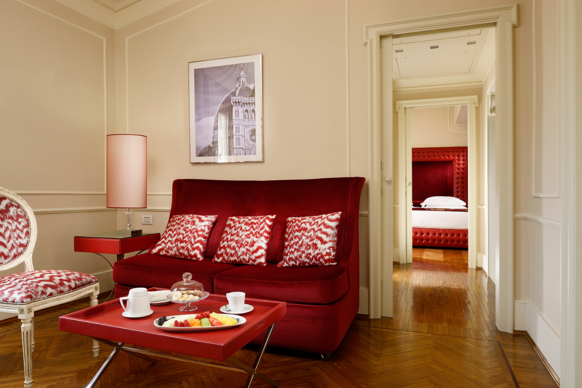 Suite a Firenze con vista Santa Croce-living